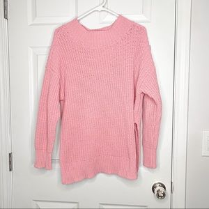 Aerie hot pink chenille oversized sweater
